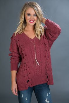 Slopes and Snuggles Tunic Sweater in Berry $49.00