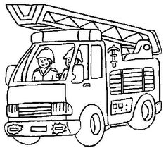 Printable Fire Truck Coloring Pages - Printable Coloring Pages To Print Truck Coloring Pages, Coloring Pages To Print, Printable Coloring Pages, Coloring Pages For Kids, Coloring Sheets, Fireman Kids, Preschool Rules, Transportation For Kids, Fireman Birthday