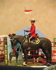 Namsha Model Horse- Royal Canadian Mounted Police