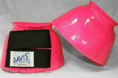 DAVIS Large Metallic Neon Pink Bell Boots by Davis. $19.95. Known for their wide variety of colors and sizes, DAVIS Bell Boots offer trendy styles, while giving horses of every size and breed outstanding overreach protection.