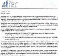 Chicago Public School Officials Promise To Obstruct The Enforcement Of Trump's Immigration Law Submitted by Michael Snyder via The End of The American Dream blog   The Chicago public school system has decided to openly defy the president of the United States. More than 392000 students attend public schools in Chicago and on Tuesday a letter was sent home with each of those students telling their parents that Chicago schools will not assist in the enforcement of federal civil immigration law…