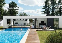 Easy construction meets simple living at these outdoorsy prefab homes.