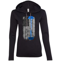 Strong American Pride Blue Ladies Longsleeve Hoodie American Pride, Workout Gear, Lgbt, Strong, Hoodies, Long Sleeve, Pride Flag, Sweaters, T Shirt