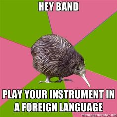This is true we sing songs in Latin but band can't do that and they don't have to learn Latin words.