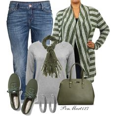 Plus Size Casual for Fall by penny-martin on Polyvore featuring Pretty Young Thing, M&Co, H&M, Keds, Avenue, House of Harlow 1960, Gucci, women's clothing, women's fashion and women