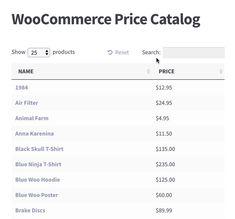 WooCommerce price catalog plugin