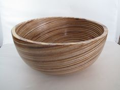 Plywood bowl by Stuart Cupit.