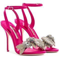 Lilico Crystal Sandal ($895) ❤ liked on Polyvore featuring shoes, sandals, crystal sandals, flower sandals, blossom footwear, flower shoes and crystal shoes