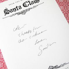 ... stationary from the desk of Santa Claus himself over at http