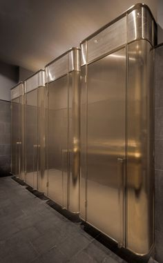 Toilet cubicles. HUB Performance & Exhibition Centre in Shanghai by Neri&Hu.