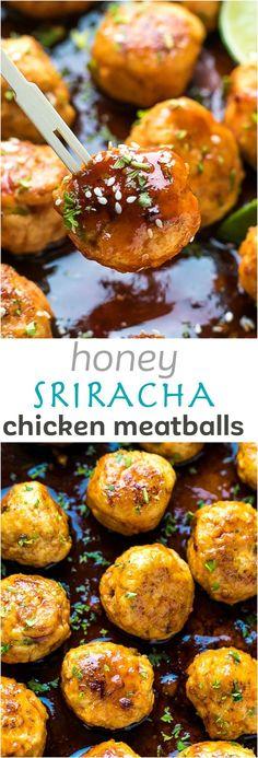 Honey Sriracha Chicken Meatballs Recipe