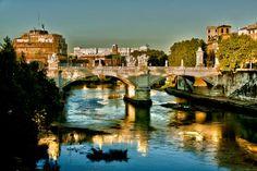 #rome, Tevere river, beautiful sight #panorama