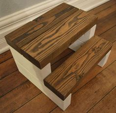 Rustic Segmented Kids Step Stool / Toddler Step Stool / Wooden Step Stool /  Rustic Step