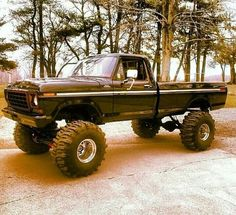 lifted black Ford truck