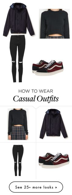 """""""casual"""" by kmd2899 on Polyvore featuring Lacoste, Topshop and Vans"""