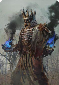 Eredin Destroyer of Worlds (Gwent Card) - The Witcher Wild Hunt The Witcher Wild Hunt, The Witcher 3, Fantasy Armor, Dark Fantasy, Olgierd Von Everec, Witcher Monsters, Witcher Art, Destroyer Of Worlds, Fantasy Monster