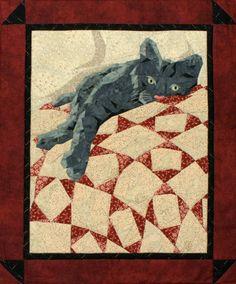 Cat Nap Pieced Quilt Pattern