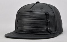 5ce4c68c35cd Newest adjustable faux leather Snapback caps Zipper by Bestown