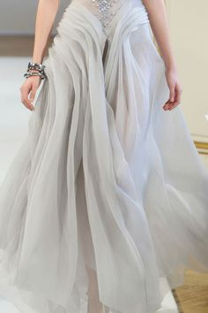 palest grey gossamer gown...  ZsaZsa Bellagio: Fashion World