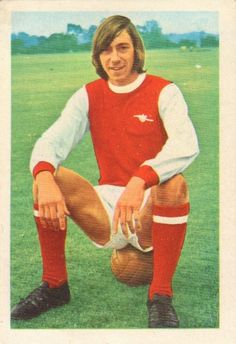 002 - Charlie George (Arsenal) - An ankle injury in the opening match kept him out of the early season games but he returned and scored the winning F.A. Cup Final goal. Islington Schools product and a professional since February 1968. League debut August 1969 v Everton. Ht 5ft. 10in. Wt. 11.8.