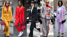 The Street Style Crowd Wore All Sorts of Suits on Day 2 of Milan Fashion Week. Many with a turtleneck or T-shirt layered underneath.