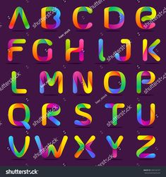 Isometric alphabet fontpital letter a b c d e f g h i j fun english alphabet one line colorful letters set font style vector design template elements thecheapjerseys Choice Image
