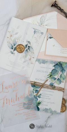 Modern vellum wedding invitation ideas #wedding#weddinginvitations#stylishwedd#stylishweddinvitations #vellumweddinginvitations