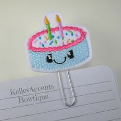 Felt Planner Clips  Planner Flags Bookmark  Birthday by KABowtique