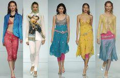 Kitsch Bollywood Outfits I Roccobarocco Milan Spring 2005