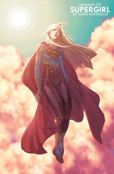 Making-of Supergirl by Santolouco