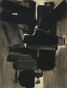 Pierre Soulages - Gouache sur papier 65 x 50 cm, 1954