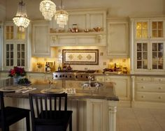 I like kitchen cabinets to look more like fine furniture than box cabinets.