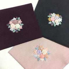 포근하게 울실자수  . . #꽃보다자수 #프랑스자수 #손자수 #embroidery #울실 #appletons