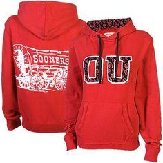 Oklahoma Sooners Ladies Olivia Pullover Hoodie - Crimson