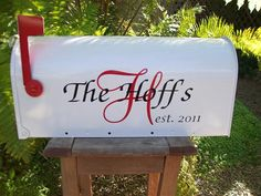 from mailbox to card holder at the wedding- what a fun idea