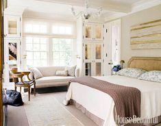 Bedroom in smokey neutrals. Design: Frank DelleDonne. #bedroom #neutrals