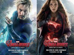 #Vingadores: Era de Ultron chega dia 23 de abril nos cinemas brasileiros! Dá uma olhada no Mercúrio e na Feiticeira Escarlate em seus novos pôsteres 7♥