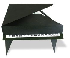 origami grand piano -- simply awesome :)  this site has loads of other origami patterns too, with easy to read diagrams.