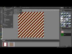How to make a digital scrapbooking striped background in photoshop elements - YouTube