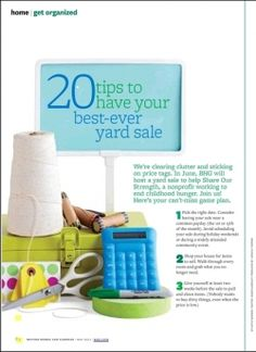 Yard Sale Tips « Our Humble A{Bowe}d