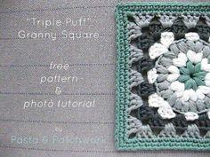 http://www.pastaandpatchwork.com/home/triple-puff-crochet-granny-square