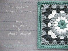 http://www.pastaandpatchwork.com/home/triple-puff-crochet-granny-square