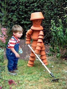 repurposed terracota pots to garden decor, container gardening, gardening, repurposing upcycling, Photo via Trevor Pot People