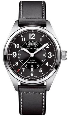 Hamilton Watch Khaki Field Day Date Auto #bezel-fixed #bracelet-strap-leather #brand-hamilton #case-material-steel #case-width-42mm #date-yes #day-yes #delivery-timescale-call-us #dial-colour-black #discount-code-allow #gender-mens #luxury #movement-automatic #official-stockist-for-hamilton-watches #packaging-hamilton-watch-packaging #style-dress #subcat-khaki-field #supplier-model-no-h70505733 #warranty-hamilton-official-2-year-guarantee #water-resistant-50m