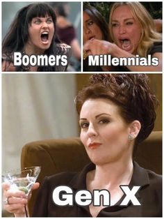 While Millennials and Boomers fight it out, Generation X is straight chilling. If you were born between 1961 and 1981 and don't really care about anything, you will definitely relate to these hilarious Generation X memes. Funny Shit, The Funny, Hilarious, Funny Stuff, Funny Quotes, Funny Memes, Jokes, Sarcastic Quotes, Funny Gifs
