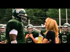 The Blind Side - 2009 - Sandra Bullock, Quinton Aaron, Kathy Bates. Leigh Anne Tuohy takes over coaching scene.