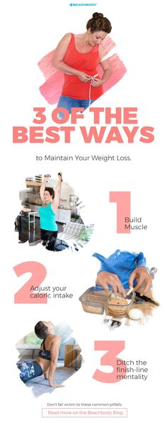 Lost weight, but now struggling to maintain your weight loss? Check out these 3 ways to keep the weight off. Quick Weight Loss Tips, Weight Loss Secrets, Best Weight Loss, How To Lose Weight Fast, Losing Weight, 21 Day Fix, Beachbody Blog, Ideal Body, Body Weight