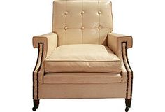 One Kings Lane - Pull Up a Chair - Faux-Leather Club Chair