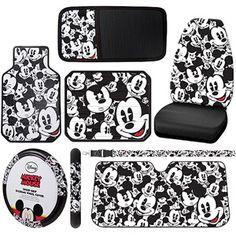 Mickey Mouse Auto Accessories Bundle - would look cool in the GrannyMobile