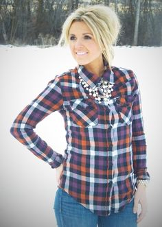 Loving the ideas from Stylin' Mommies blog! Would have never thought to wear plaid and pearls!